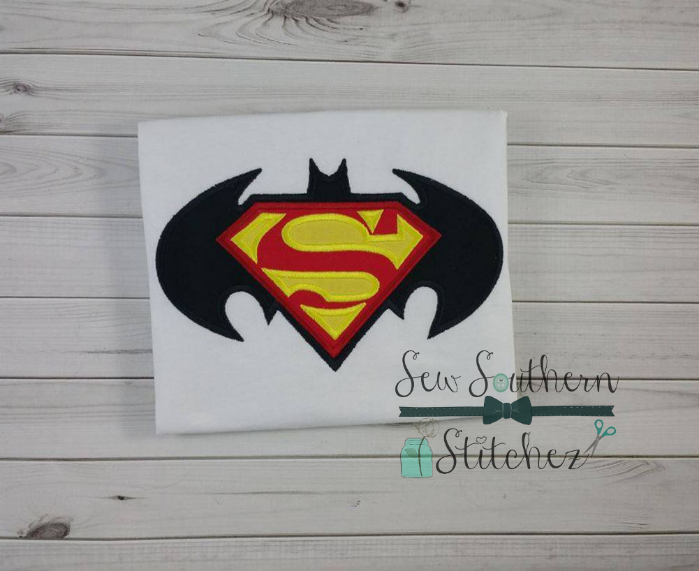 Batman VS Superman Logo Applique