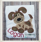 Sweet Patches Puppy Applique Design
