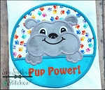 Bulldog Circle Applique Design