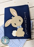 Raggedy Bowtie Bunny Applique Design ~ Boy Rabbit