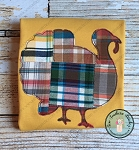 Raggedy Turkey Applique Design ~ Thanksgiving Turkey