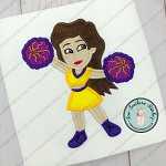 Cheerleader ~ Dancer Applique ~ Sports