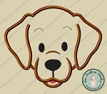 Labrador Dog Head Applique Design ~ Chocolate Lab, Yellow Lab or Black Lab