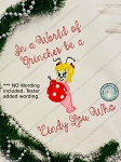 Cindy Lou Who Applique Design ~ Christmas  Applique