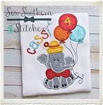 Birthday ~ Circus Elephant Applique Design