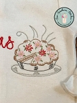 Vintage Pie Embroidery Design ~ Heirloom, Triple Bean, Sketch, Back Stitched, Vintage