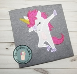 Dabbing Unicorn Applique Design ~ Dancing ~ Dance Move Unicorn