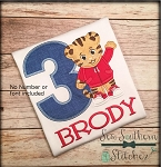 Daniel Tiger Applique Design