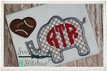 Elephant with Football Heart Design