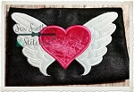 Heart with Wings Applique Design
