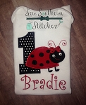 Ladybug Applique Design ~ Filled Spots