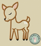 Little Deer Applique Design