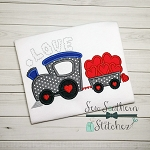 Valentine Love Train Applique Design