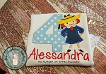 Madeline Applique Design ~ Cute Girl Wearing Hat