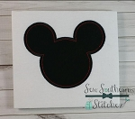 Mr Mouse Head Applique Design