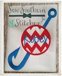 Fishing Hook Applique Design