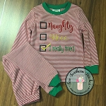 Check list Embroidery Design ~ Naughty ~ Nice ~ I Really Tried ~ Christmas Design