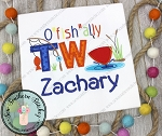 O' Fish' Ally TWO Fishing Birthday Applique Design