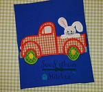 Old Truck Applique ~ Easter Bunny on Back