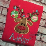 Ornament Reindeer Applique Design