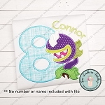 Chomper Flower Applique Design ~ Plants vs Zombies Inspired