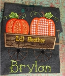 Pumpkin Wagon Applique ~ Great Fall Applique