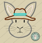 Rabbit Wearing Hat Applique Design ~ Fun Rabbit Applique