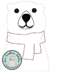 Raggedy Polar Bear Applique Design ~ Coca~Cola Polar Bear ~ Quick Stitch
