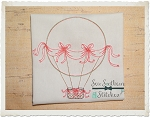 Sketched Hot Air Balloon - Vintage Stitched - Heirloom Stitched ~ Bean Stitched