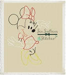 Sketch Girl Mouse - Vintage Stitch - Heirloom Stitch - Bean Stitched