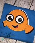 Tsum Tsum Clown Fish Applique ~ Nemo Applique