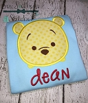 Tsum Tsum Pooh Bear Head Applique