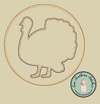 Circle Turkey Applique Design ~ Thanksgiving Turkey