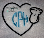 Ultrasound Wand Heart Embroidery Design ~ Letters ~ Numbers ~ Names ~ Monograms
