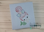 Vintage Mermaid Girl 1 ~Sketch~Bean~Heirloom Stitch ~ Perfect for Summer