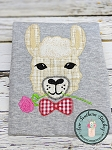 Zig Zag BowTie Llama Applique Design ~ Perfect for Valentines