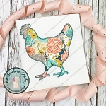 Zig Zag Chicken Silhouette Applique Design ~ Chicken Outline
