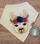 Zig Zag Floral Crown Llama Applique Design ~ Perfect for Valentines