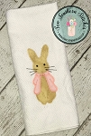 Zig Zag Girl Bunny Applique Design ~  Easter Bunny Design