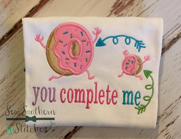 Doughnut Hole ~ Doughnut Applique Design ~ Yummy Doughnuts with Sprinkles ~ With Saying