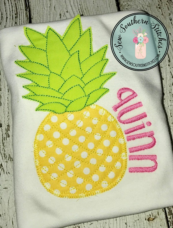 Pineapple Applique ~ Vintage Buttonhole Stitch Bottom ~ Raggedy Bean Top
