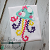Raggedy Jellyfish Applique Design ~ Quick Stitch ~ Rick Rack for 3D effect