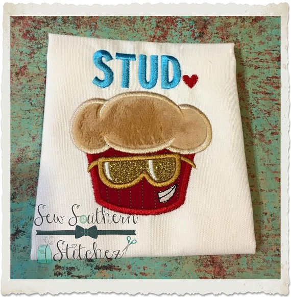 Stud Muffin Applique Design