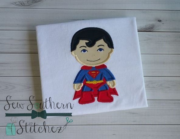 Superman applique design ~ superhero ~ comic book character