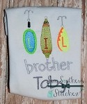 Lil Brother Fishing Lure Embroidery Design