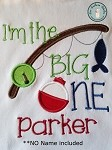 Fishing ONE Applique Design ~ First Birthday Design