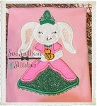 Beautiful Easter Bunny Princess Applique Design