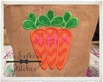 Carrot Trio Applique Design