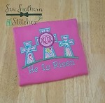 Cross Trio Applique Design ~ Monogram for Girls or Boys