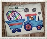 Easter Egg Tractor Trailer Applique Design